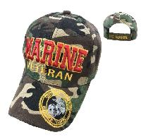 Licensed MARINE VETERAN Hat [Seal on Bill] Camo